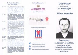 Flyer Alfred Kowalke