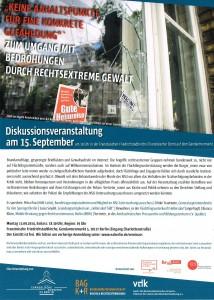 Diskussionsveranstaltung 15.09.2014