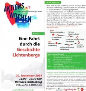 Geschichtsfahrt Lichtenberg 20.09.2014