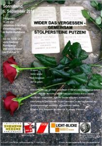 Stolperstein-Putzaktion 06.09.2014